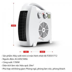 Máy sưởi có màn hình nhiệt độ TODO MS02